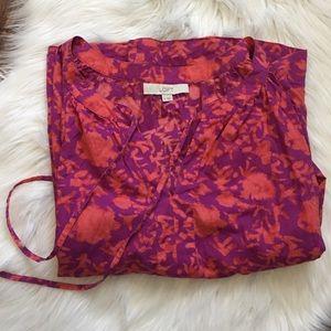 Loft orange and purple Blouse