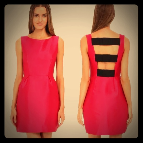b796ecc100e Kate Spade New York Pink Bow Flirty Back Dress