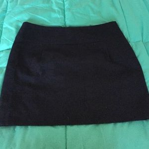 Navy blue linen skirt