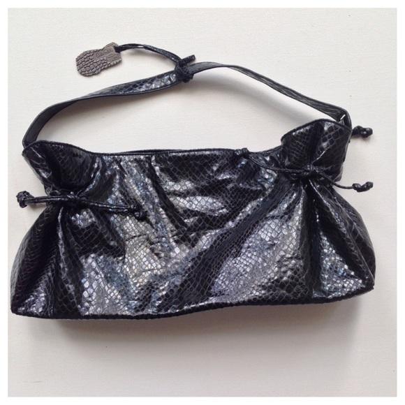 bf3f56814f4 Carlos Falchi Handbags - CARLOS FALCHI Target Black Faux Snakeskin Purse