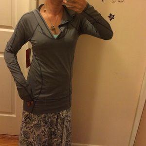 Zella flex fit hoodie striped blue BNWT.