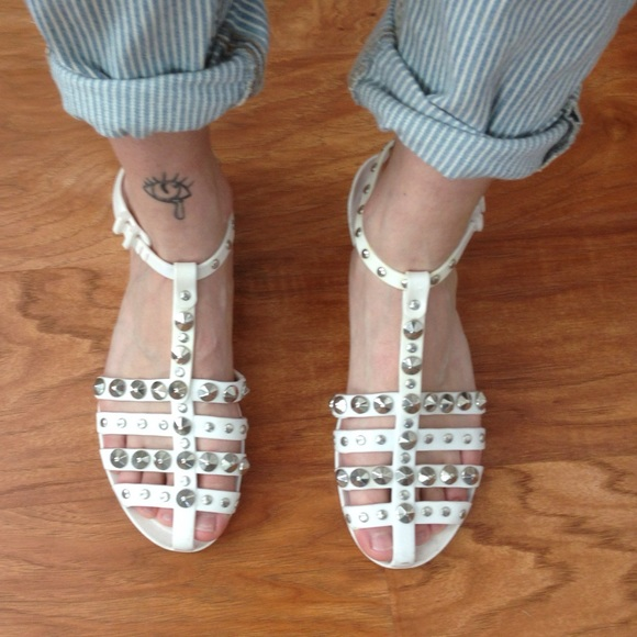 Jimmy Choo Studded Jelly Sandals