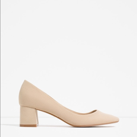 36% off Zara Shoes - SOLDZARA NUDE BLOCK HEEL SANDAL from ...