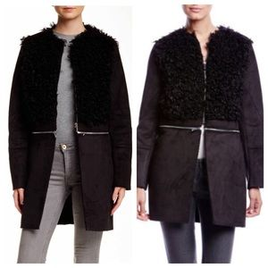 1. State Jackets & Blazers - Black Faux Shearling Coat