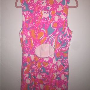 0f3c35632202fa Lilly Pulitzer Dresses - Lilly Pulitzer Whiting Cut-Out Shift Dress