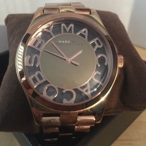 Marc Jacobs Rose Gold Skeleton watch
