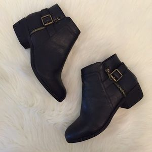 Bossy's Boutique Shoes - Black Buckle Ankle Boots