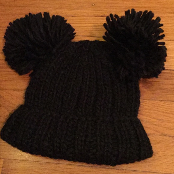 BCBG GIRL Kids Winter Faux Fur Pom Pom  Kids Knitted Beanie Hat  BNWTS