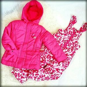 Pink Platinum Other - 🎉NWT 4 Snowsuit Puffer Jacket Bib pant Pink