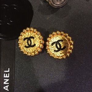 Authentic CHANEL clip on earrings