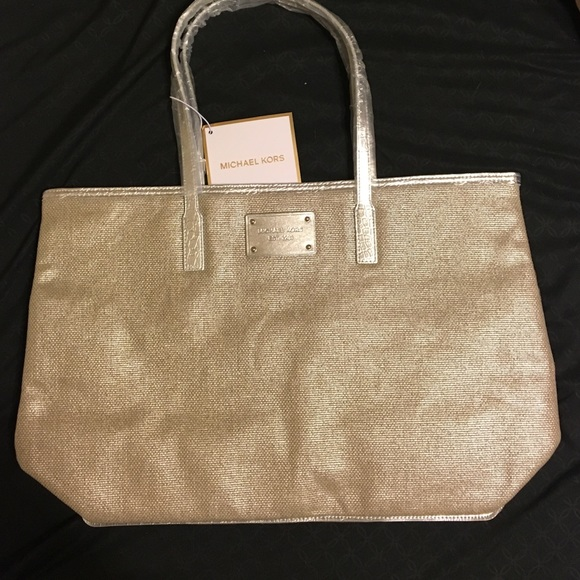 35a756d662f245 Michael Kors Bags | Silver Trim Tweed Tote Authentic | Poshmark
