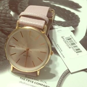 🌺Nordstrom Leather strap rose gold watch