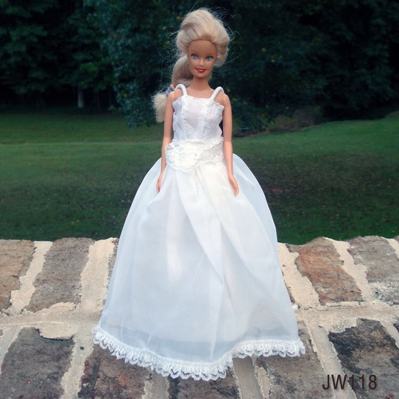 Handmade Barbie Wedding Dress One Of A Kind Boutique