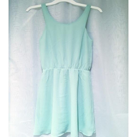 H M Mint Green Cut Out Sleeveless Dress ff405c23c