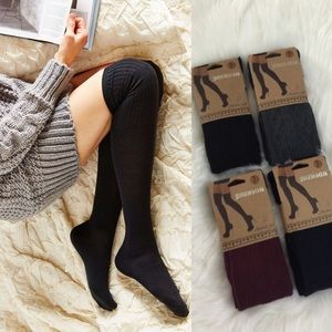 Boutique Accessories - Assorted Colors Cable Knit Knee-High Socks
