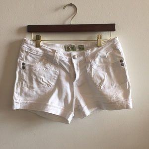 Pants - Reuse denim White Jean shorts