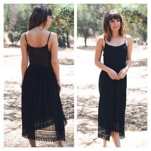 Dresses & Skirts - Lace Trim Cotton Slip Dress