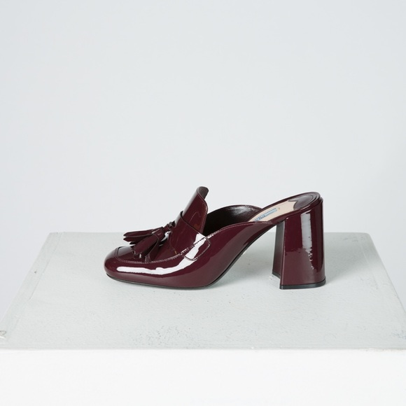 cheap sale find great cheap sale visa payment Prada Leather Tassel Mules discount 100% authentic perfect for sale discount visit nWKyKwd5