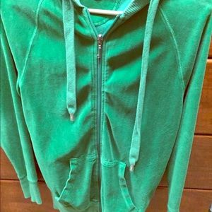 Juicy Couture Sweaters - Juicy Couture Velour Hoodie Size Small green