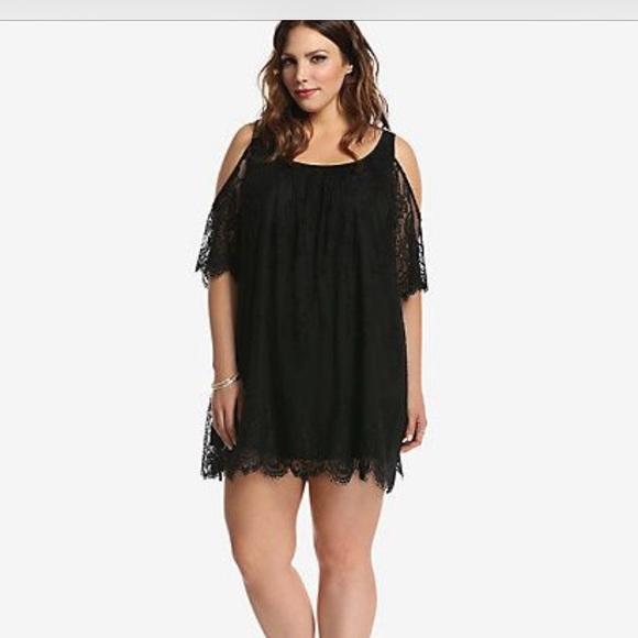100% off torrid Dresses & Skirts - Torrid lace cold shoulder dress ...
