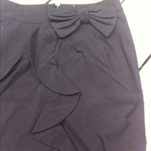 Alythea Dresses & Skirts - alythea straight skirt black Bow Ruffle Size S