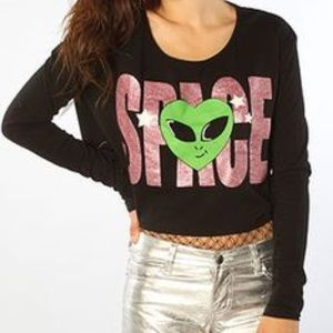 Joyrich Tops - JOYRICH Space ALIEN 90's Crop Top NWT Dolls Kill L