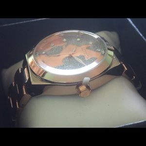 Mykon jewelry womens rose gold world map watch poshmark mykon jewelry mykon womens rose gold world map watch gumiabroncs Image collections