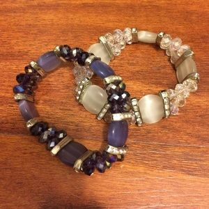 2 Swarovski Beaded Bracelets