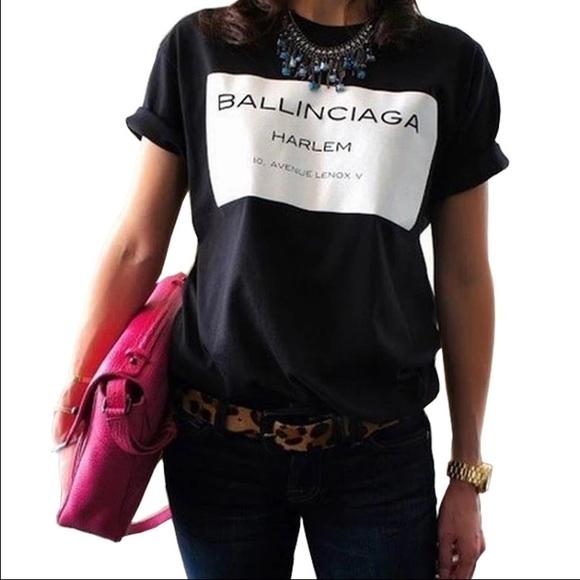 7a629948 Balenciaga Tops   Nwt Ballinciaga Black Harlem Tee   Poshmark