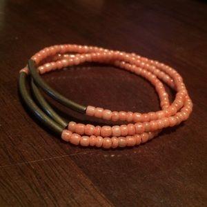 Handmade seed bead bracelet - set of 3