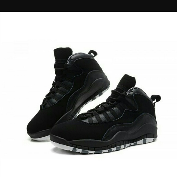 separation shoes 5b55a 9e0ee Jordan Other - Jordan 10 Retro Stealth Preschool Black Gray suede