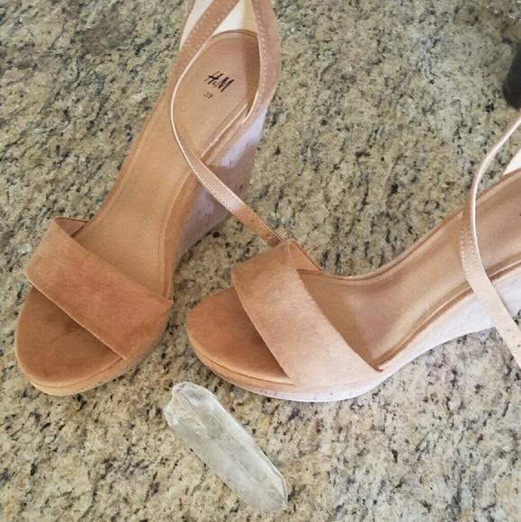 6f7a23f40f H&M Shoes | Tan Camel Hm Wedges | Poshmark