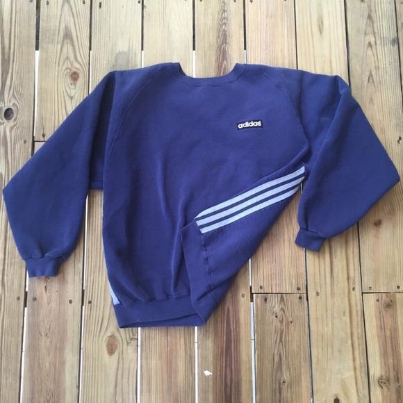 fefa927cefe8 Adidas Shirts | Vintage Dark Navy Blue Pullover Sweatshirt | Poshmark