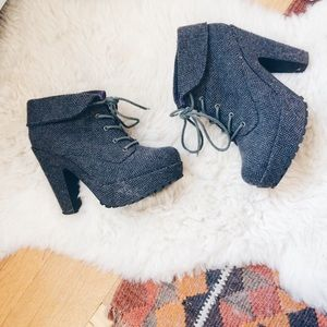 Blowfish Shoes - Blowfish Shoes Gray Lace-up Vance Bootie