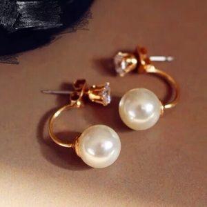 ❗LAST ONE❗17Basics two-way pearl crystal earrings
