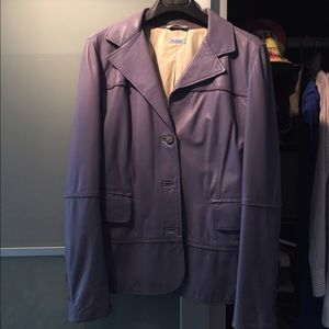 Malo Jackets & Blazers - Malo Leather Jacket Italy 42 2 4 Periwinkle