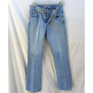 "Vintage Button Fly High Waisted Denim ""Mom"" Jeans"