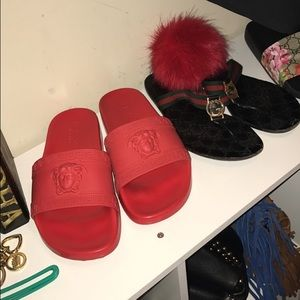 4ea4bf56 Versace red sandals size 39 9 women