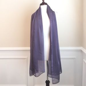 Long evening silk chiffon drape scarf / wrap