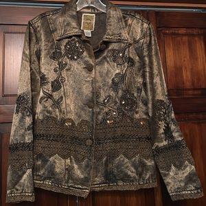 Flashback Jackets & Blazers - Beautiful metallic embellished jacket S