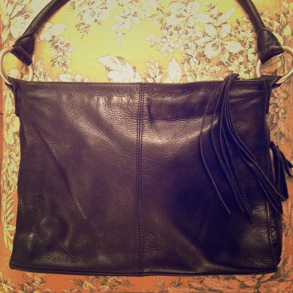 b9b1b5fa8b Sven black leather purse with fringe tassel. M_5871aeb6a88e7da18602f09c