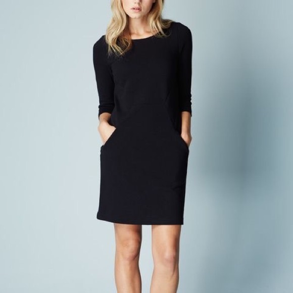 Boden Dresses Wh974 Black Sleeve Seam Detail Dress Poshmark