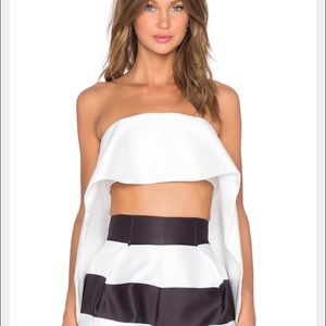 Solace London strapless crop top