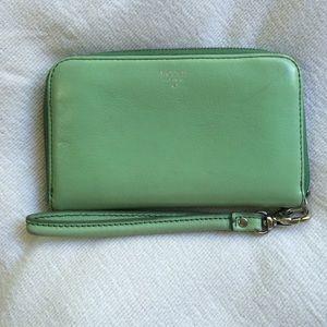 Mint green fossil wallet