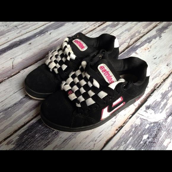 Etnies Womens Skate Shoes Black Pink