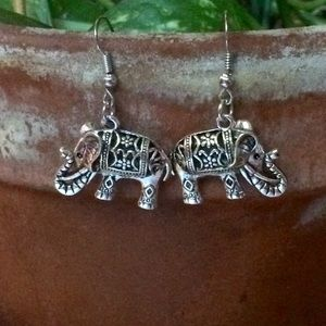 Jewelry - NWOT Lucky Elephant Earrings