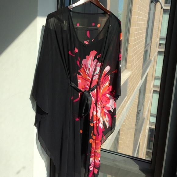 7d63acd68904 Bisou Bisou Dresses | Printed Chiffon Poncho Dress | Poshmark