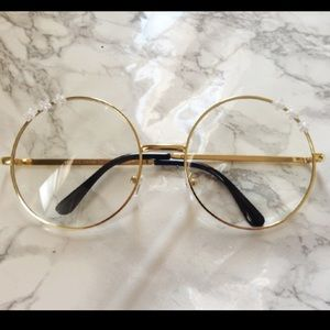 c01c51a1c5ed ... Oversized Round Clear Sunglasses    Retro Hippie ...