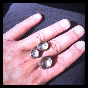 Statement ring from Turkey - natural stone.