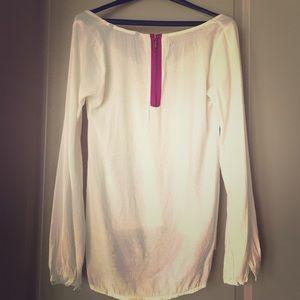 Zara Pink Zipper Blouse